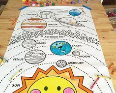 Aloha Design + Illustration by alohababydesign Solar System Projects For Kids, Solar System Activities, Solar System Art, Solar System Crafts, Homeschool Kindergarten, Preschool Activities, Planets Preschool, Vestibular Activities, Mars And Earth