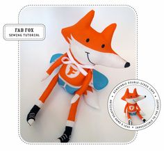 FOX STUFFIE TOY SEWING PATTERN @Olivia García Dueck have you seen this free pattern?? it's so cute!