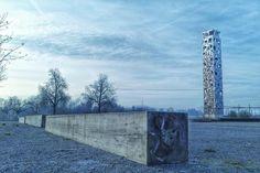 Himmelstürmer in Perspektive #wetzgau #laga2014 #morgen #turm #schwäbischgmünd #Balken #mawpix #Matthiaswassermann @dxoone
