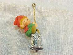 Vintage Rare Hallmark 1980 THIMBLE ELF Christmas Ornament 3rd of  Series
