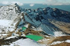 Emerald Lakes, Mount Tongariro, North Island, New Zealand