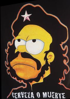 Homer Guevara Simpson - Cerveza o Muerte Simpsons Characters, Simpsons Art, Homer Simpson, Pop Art, Simpson Wallpaper Iphone, Cartoon Crossovers, Poster Design, American Dad, Cartoon Shows