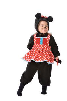 DisfracesMimo, disfraz de ratita minnie bebe varias tallas. La más pequeñita de la familia será la minnie mouse de su Fiesta de la Guardería. Este disfraz es ideal para tus fiestas temáticas de animales y cuentos para infantil. fabricacion nacional