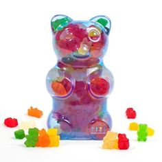 For Macie-- Dylan's Candy Bar Filled Gummy Bear Container - Blue in Bulk Candy at Dylan's Candy Bar
