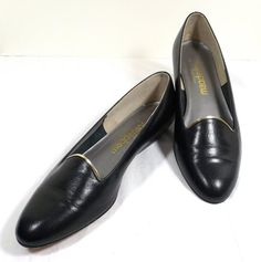 California MAGDESIANS Black Leather Flats Size 7-1/2 by KatsCache