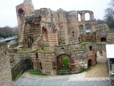 Trier, Germany. Roman Baths Ruins.