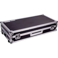 Fly Drive DJ Coffin Case For Two Turntables In Battle Style Position Plus One Rane Sixty-One Serato or Similar 10-in Mixer w/ Low Profile Wheels