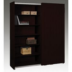 Finished Surface With Magnetc Paint Sorrento Sliding Door Cabinet Bookcase