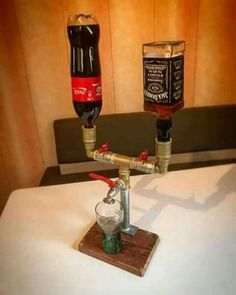 Jack and coke contraption