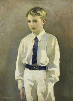 Norah Neilson Gray (1882-1931),- retrato de un niño