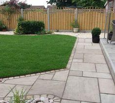 Backyard Garden Landscape, Small Backyard Gardens, Garden Yard Ideas, Back Gardens, Outdoor Gardens, Garden Tiles, Patio Tiles, Garden Paving, Outdoor Tiles