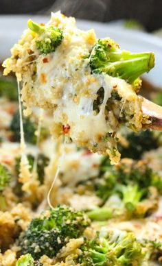 Broccoli Quinoa casserole. I definitely have to try this!