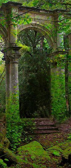 Ruins now part of the garden