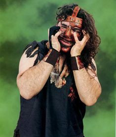 Mick Foley makes a face - mankind #WWE