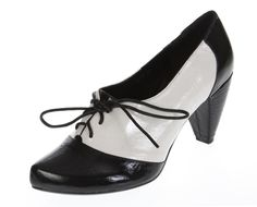 Vintage style high heel shoes