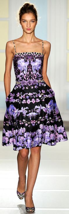 Temperley London / https://www.pinterest.com/pin/138837600989632438/  Excellent use of design on fabric to enhance draping of dress.