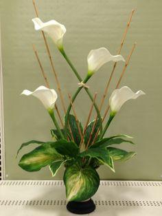 High style arrangement made by Suzanne at Michaels Whitehall Pa Flower Arrangement, Floral Arrangements, Church Flowers, Arte Floral, Ikebana, Horticulture, Fresh Flowers, Flower Power, Floral Design