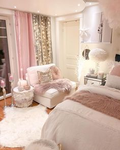 More will be more with regards to boho style bedroom! All the more truly is more with regards to bohemian rooms. In this white and pink interior spot, shocks continue coming. From fluffy rugs on the f… – Boho Room Ideas – Home Decor Ideas Bedroom Decor For Teen Girls, Cute Bedroom Ideas, Girl Bedroom Designs, Room Ideas Bedroom, Modern Bedroom Design, Bed Room, Diy Bedroom, Glam Bedroom, Teen Girl Rooms