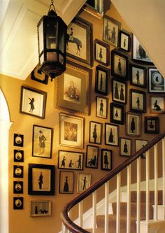 I would love to do this going up our stairs...I think it might be too much for our small hallway though