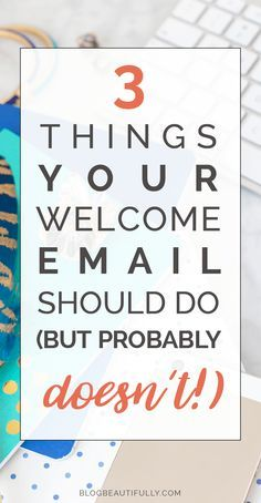 Is your welcome email pulling its weight? Here are 3 ways your welcome email might be falling short (and how to fix it!) A guest post by Meera Kothand on Blog Beautifully