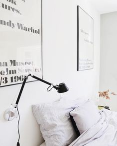 The Tolomeo Micro Wall, Black finish is really chic ! From instagram via @donebymyselfblog : Good morning from the bedroom!