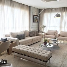 Vê esta foto do Instagram de @almocodesexta • 2,874 gostos Living Room Modern, Home Living Room, Living Room Designs, Living Room Decor, Kitchen Room Design, Sofa Set, Luxury Living, Furniture Decor, Decor Styles
