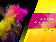 Festive color art background design - a free presentation template for celebrations, festivals, art and fashion events.