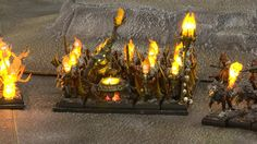 Warhammer Fantasy Miniatures Gallery: Possibly the most amazing Warhammer Fantasy Army you will ever see... recast in resin, hollow out eyesockets, and some entirely new figures, plus LED's - load of LED's...