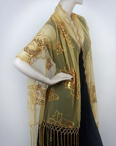 Gold Embellished Flowery Evening Wrap http://www.yourselegantly.com/gold-embellished-flowery-evening-wrap.html