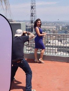 Downtown Los Angeles photo shoot #makeupartist #gettingready #pinup #downtownshoot #downtown #makeup #art #photos #JohnnyGramercy #rooftop #downtownLAroof #skyline #heels
