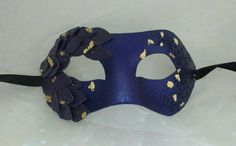 Purple mask masquerade masks leather mask by MasksbyDebbsElliman