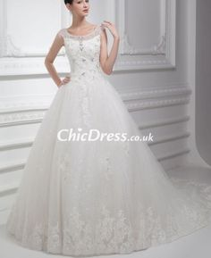 gorgeous bridal simple chiffon wedding gown with lace