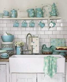 Duck Egg Blue I Love The Sink This Is Kind Want In My Kitchen With