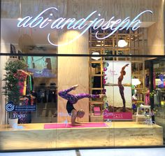 Danique demonstrating Yoga as a live mannequin in our Westfield Garden City store, Mt Gravatt, Brisbane Queensland