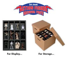 ToyGear is raising funds for Action Figure Archival Trays - Display and Storage on Kickstarter! High Quality Action Figure Trays for Display and Storage. To Showcase, Protect, & Organize Valuable Toy Collections. Toy Display, Display Shelves, Display Ideas, Shelving, Comic Book Storage, Action Figure Display, Action Toys, Study Design, You Loose