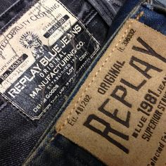 """Vilka jeans tycker ni har snyggaste """"tags/etiketter-label""""? #replay #jeans"""