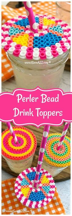 Perler Ideas: Perler Beads Drink Topper