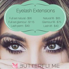 Can't live without lash extensions!                                                                                                                                                                                 More