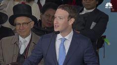 Mark Zuckerberg Speaks At 366th Harvard Commencement