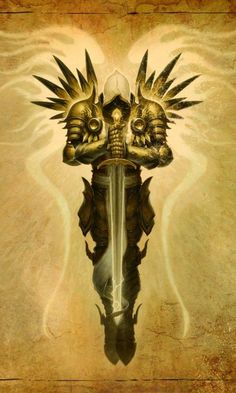 silhouette drawing of tyrael - Google Search
