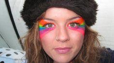 Double Rainbow face - Shambala Festival