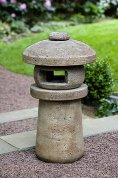 Sapporo Lantern cast stone pagoda statue made by Campania International