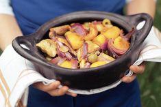 Kijk wat een lekker recept ik heb gevonden op Allerhande! Stoofschotel met kip en perzik