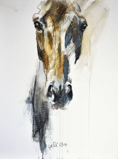 Benedicte Gelé pastel, chalk drawing