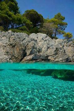 Skopelos, the greenest Greek island. Skopelos is visible from Skiathos and it was the set for Mama Mia the movie Skopelos Greece, Skiathos, Mykonos Greece, Crete Greece, Athens Greece, Beautiful Islands, Beautiful Places, Places To Travel, Places To See