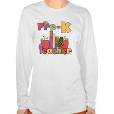 Bugs and Apples Pre-K Teacher T Shirt, Hoodie Sweatshirt