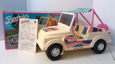 RARE Barbie FunRider Car with Box 1990 Mattel The Car That Runs On Fun 9435 Jeep #Mattel http://www.medusamaire.com/my-ebay-items/ to see all of my items for sale!