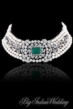 Pearl and diamond #choker by #asmotiwala