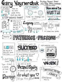 by ItsLilpeanut on flickr Garyvee Building Personal Brand Sketch Notes on Gary V's Keynote at Web 2.0 Expo: Building Personal Brand within the Social Media (Oldie but goodie!) youtu.be/EhqZ0RU95d4