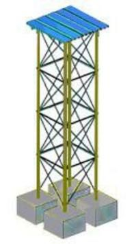 Water Tank Stands Steel Water Tank Stands – are manufactured for 5,000 and 10,000 liter tanks in the following heights: 1.5m, 3.0m, 4.5m. The flexible stands are easily carried because their parts packaged in a box. Water Tank Stands